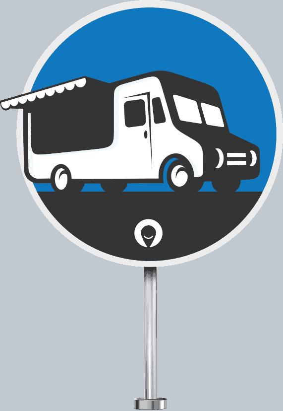 Verkehrsschild Foodtruck